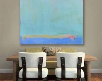 Best Selling Items, Abstract Landscape Canvas Print, Modern Minimalist, Best Seller, Blue Decor, Trending, Wall Art Print Most Popular Items