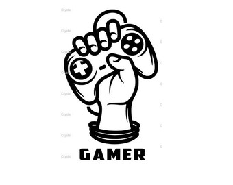Gamer Video Game SVG File Ready To Use