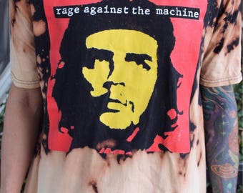Rage Against The Machine Che Guevara bleached - Vintage - distressed - Band Tee - Band T-Shirt - Retro Clothing