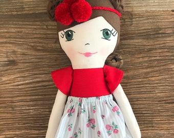 Handmade heirloom doll - Cloth doll - Rag doll - Baby Shower gift - Birthday Gift - Handmade doll - Gift - Fabric doll