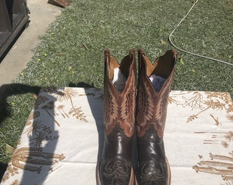 Vintage Lucchese Cowboy Boots Size 6C Alligator Toes