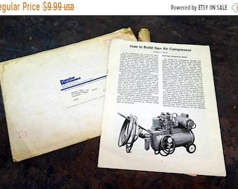 BTS Popular Mechanics 1-hp Air Compressor plans by Robert L Bailey 1977