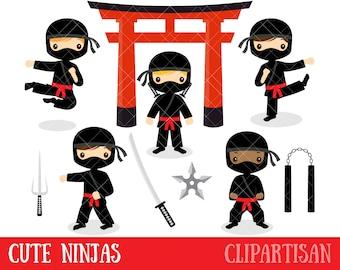 Ninja Clipart / Cute Ninjas Clip Art