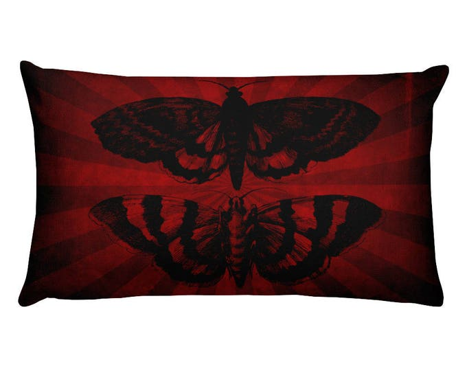Mothra Rectangular Pillow- Striped- Limited