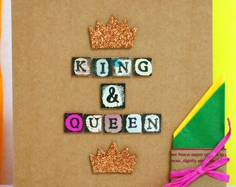 King & Queen Card
