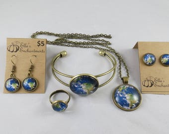 Nasa Earth Jewelry Set