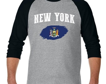 New York City New York Raglan Sleeve Baseball T-Shirt