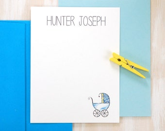 Personalized Stationery Set, Personalized Baby Thank You Cards Boy, Baby Shower Thank You Cards