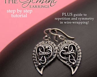 The Gemini Earrings Tutorial by Iza Malczyk - a lesson in wire-wrapping and symmetry - instant download