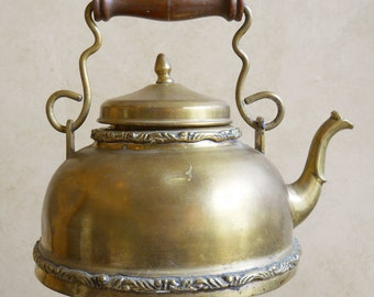 Old Brass Beauty--Antique tea kettle given new life as a Wind Chime