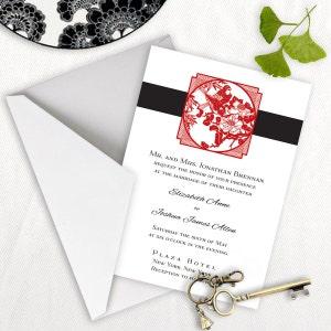 Chinese wedding invitations etsy shanghai chinese formal wedding invitation stopboris Image collections