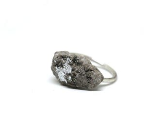 Concrete Ring | Silver Ring | Statement Ring | Stone Ring