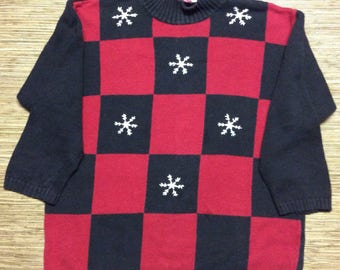Ugly Snowflake Sweater - Ugly XL Sweater - Tacky Christmas - Tacky Sweater - Christmas Sweater - Sweater Party