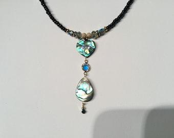 Abalone elegance necklace set