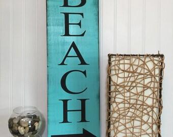 Rustic beach sign beach gift coastal decor wood beach sign beach house decor beach theme art nautical decor beach sign coastal decor ideas