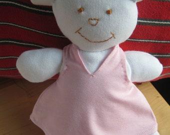 WHITE BEAR cloth DOLL-girl