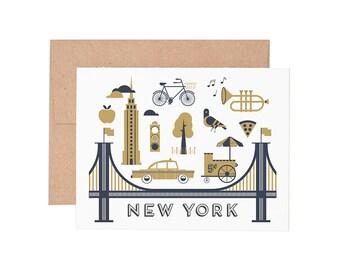 New York City Letterpress Greeting Card - Blank Card | Greeting Cards |