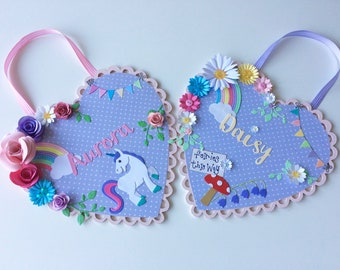 Little girls name plaque, new baby, nursery wall art