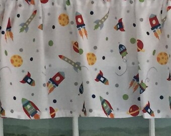 Space Rockets Valance ~ 65 Inches Wide