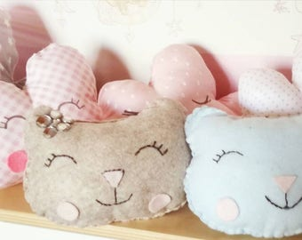 Set two cat Pillows