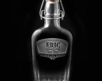Best Man Flask, Engraved Whiskey Flask Gift for Groomsmen (groomflask)