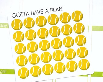 Planner Stickers Tennis Ball for Erin Condren, Happy Planner, Filofax, Scrapbooking