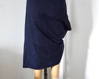 Blue Asymmetric Sculptural Skirt