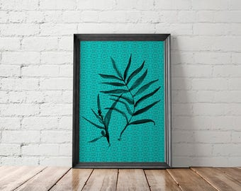 Tropical Leaf, Jungalow Wall Art, Printable Art
