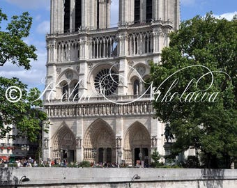 Notre Dame de Paris Photography Cathedral Beautiful Architecture High Resolution Digital Download Wall Art Home Decor Instant Download