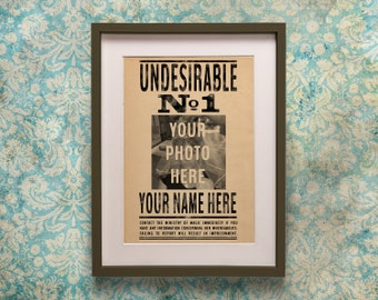 Harry Potter Personalised Undesirable No 1 Poster Print