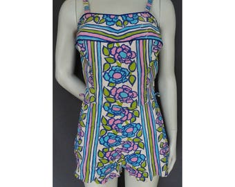 Vintage 1950s/50s 1960s/60s Cole of California SWIMSUIT/PLAYSUIT/Bathing Costume Pin Up