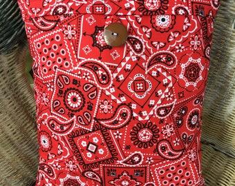 Handmade Bandanna Throw Pillow
