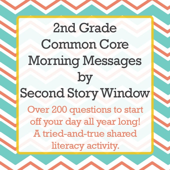 2nd Grade Common Core Morning Messages