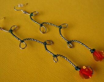 In the Garden - Rose Earrings