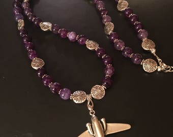 Flying into a Purple Skies Necklace