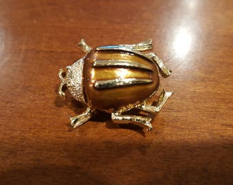 Vintage Beetle Brooch