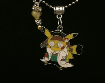 Handmade Nerdy Pika Pendant Necklace and charm
