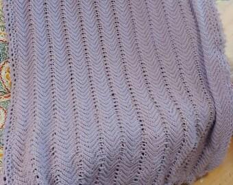 Purple ripple blanket