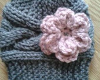 Knit Cable Baby Hat