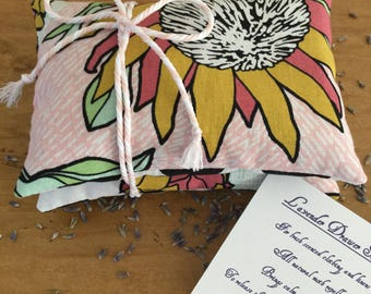 Lavender drawer sachets. Mother's Day gift. So easy to gift!  Set of 2. Scented drawer pillows. Teacher gift.