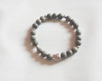 Gray bracelet + Buddha