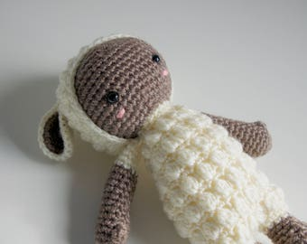 Mini Lupo the lamb from pattern by Lalylala