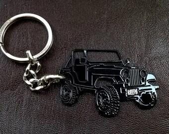 jeep keychain, fathers day gift, jeep, Jeep CJ5 keyring, car keyring, personalised keyring, Custom Keyring, birthday gift, personalized gift
