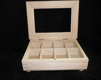 Custom Watch case - Solid Poplar Wood