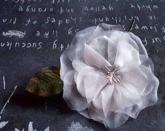 Silvery grey rose corsage