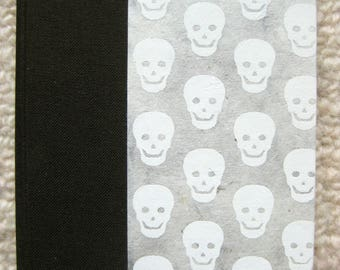Small Lined Handbound Hardcover Skulls Journal