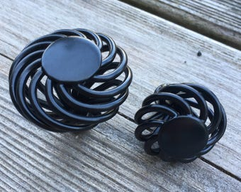 Black Spiral Drawer Knobs - Black Cage Cabinet Knobs (RTG40)