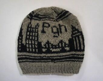 Gray Pittsburgh Skyline Knit