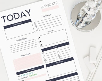 A4 & Letter Daily Planner Printable - Undated (Audrey Collection)