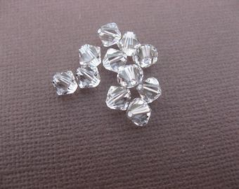 Crystal Swarovski bicone 8 mm: 3 beads crystal